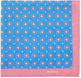 Kiton Men's Floral-Medallion-Print Linen Pocket Square