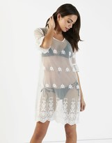 Fashion Union Sheer Lace Cover Up