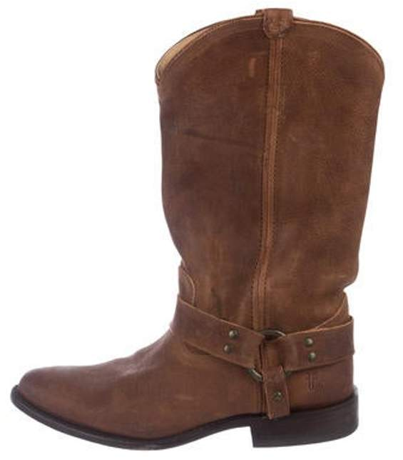 Frye Leather Mid-Calf Boots Brown Leather Mid-Calf Boots