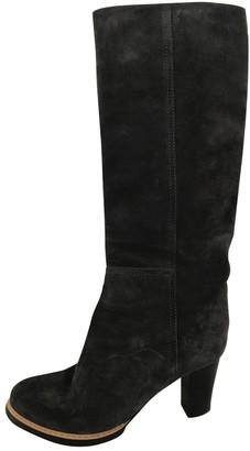 Jil Sander Grey Suede Boots