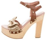 RED Valentino Bow-Accented Platform Sandals