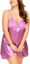 Sweetnight Women's Pretty hollow out lingerie Babydoll nightwear for the Bedroom(XXL,)
