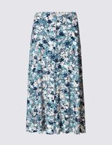 Marks and Spencer Floral Print Midi A-Line Skirt