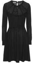 Miu Miu Pointelle Knitted Virgin Wool Dress