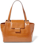 Ralph Lauren Medium Lynwood Croc Shopper