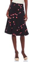 Kate Spade Floral Flounce Midi Skirt