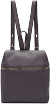 Kara Grey Small Leather Backpack