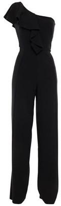 Black Halo Kallan One-shoulder Ruffled Cady Wide-leg Jumpsuit