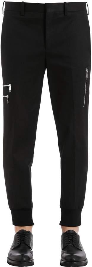 Neil Barrett Cotton Gabardine Pants W/ Zip Pockets