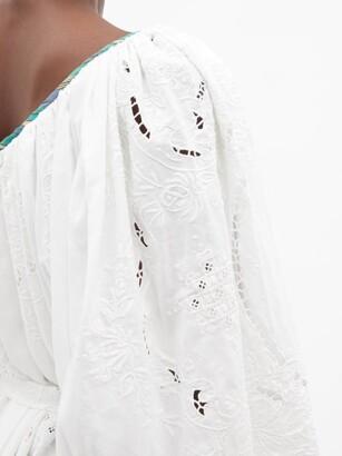 RIANNA + NINA Kendima Broderie-anglaise Cotton-poplin Maxi Dress - Multi