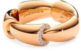 Calla 18K Rose Gold, Titanium & 1-Edge Diamond Pave Ring