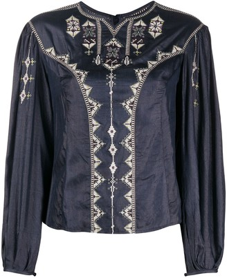 Etoile Isabel Marant Embroidered Long Sleeved Top