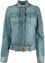 Gucci Pre Owned cropped denim jacket