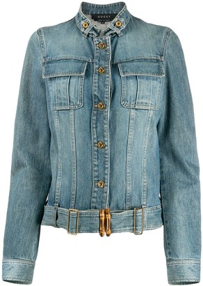 Gucci Pre-Owned Cropped Denim Jacket