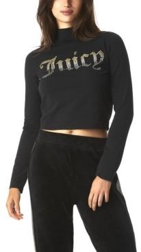 Juicy Couture Women's Rhinestone Long Sleeve T-Shirt