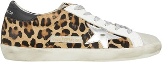 Golden Goose Superstar Leopard Low-Top Sneakers