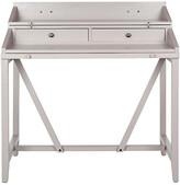 One Kings Lane Elgin Writing Desk - Gray - frame, gray; hardware, bronze