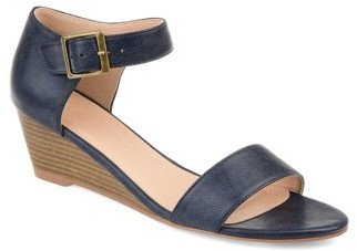 Brinley Co. Women's Open-toe Ankle Strap Wedge Sandal