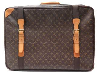 Louis Vuitton Vintage Brown Cloth Travel Bag