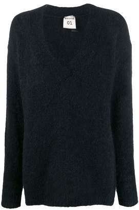 Semi-Couture Semicouture oversized V-neck jumper