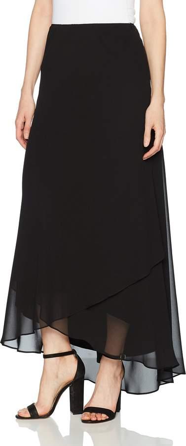 Alex Evenings Women's Standard Long Chiffon Tulip Hem Skirt S