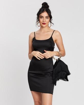 Missguided Cut-Out Stretch Satin Mini Dress