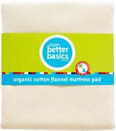 Giggle better basics organic cotton flannel mattress pad