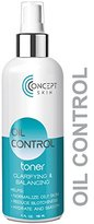 Oil Control Clarifying Toner - Oily Skin and Acne Toner -With Natural Botanicals for pH balanced, Smooth, Clear Skin by Concept Skin (4 oz)