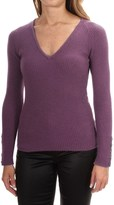 Johnstons of Elgin Cashmere Skinny Rib-Knit Sweater (For Women)