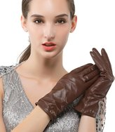 Nappaglo Women's Italian Lambskin Leather Cashmere Lined Gloves Winter Warm Nappa Leather Gloves (Touchscreen or Non-Touchscreen)
