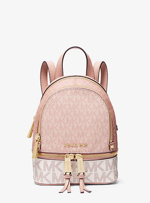 MICHAEL Michael Kors MK Rhea Mini Color-Block Logo Backpack - Ballet Multi - Michael Kors