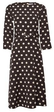 Dorothy Perkins Womens Lily & Franc Brown Spot Print Midi Dress, Brown