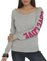 Wet Seal WetSeal Love Applique Pullover Sweatshirt Heather Grey