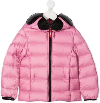 AI Riders On The Storm Pom Pom Detail Padded Jacket