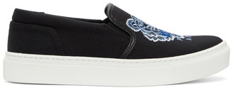 Kenzo Black Tiger K-Skate Slip-On Sneakers