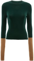 J.W.Anderson two-tone ribbed jumper