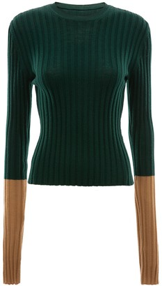 J.W.Anderson LONG SLEEVE RIBBED TOP
