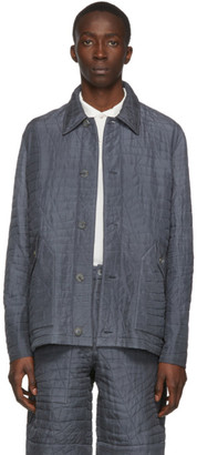 Paul Smith Grey Quilted Silk Jacket