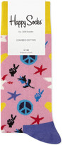 Happy Socks Peace and Love cotton-blend socks
