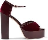 Vanessa Seward Velvet and patent-leather platform sandals