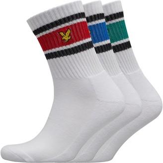 Lyle And Scott Vintage Mens Grant Three Pack Socks White