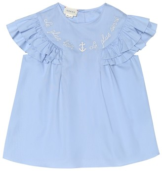 Gucci Kids Cotton-poplin shirt