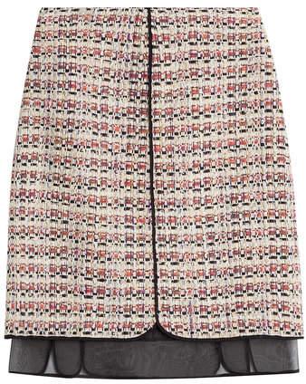 Giambattista Valli Bouclé Skirt with Chiffon