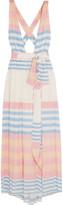Mara Hoffman Striped crinkled-voile maxi dress