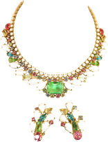One Kings Lane Vintage Weiss Multicolor Crystal Necklace Suite
