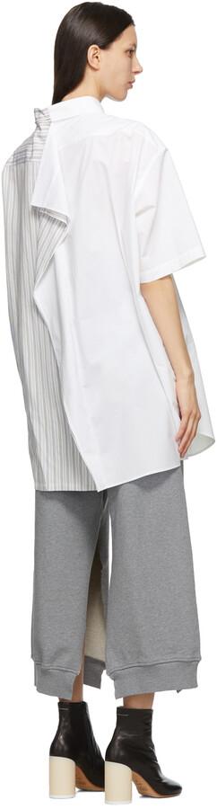 Thumbnail for your product : MM6 MAISON MARGIELA Blue & White Combo Stripe Dress