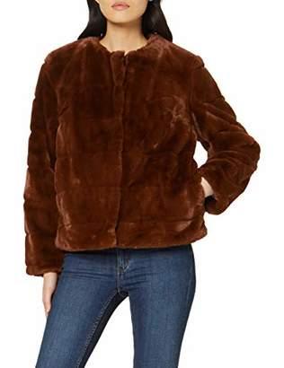 Dorothy Perkins Women's Tan Short Carved Edge. Coat,6 (Size:6)