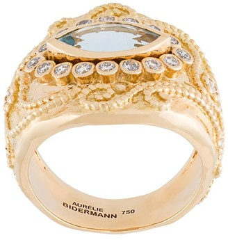 Aurelie Bidermann 'Cashmere' aquamarine and diamond ring