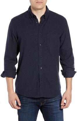 Billy Reid Tuscumbia Slim Fit Cotton & Cashmere Shirt