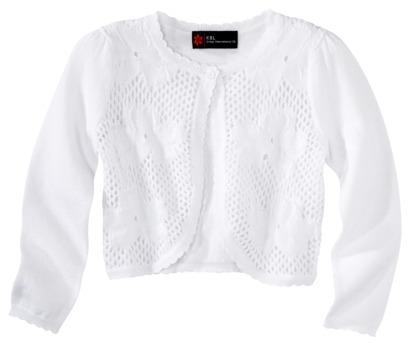 KBL Infant Toddler Girls' Long-Sleeve Cardigan Sweater - White
